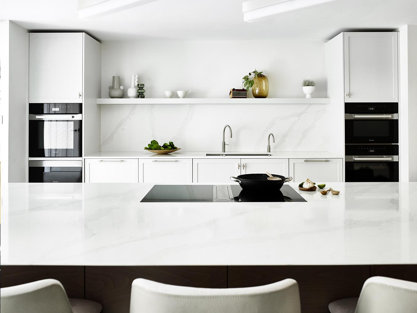 Luxury kitchen design minimal white kitchen
