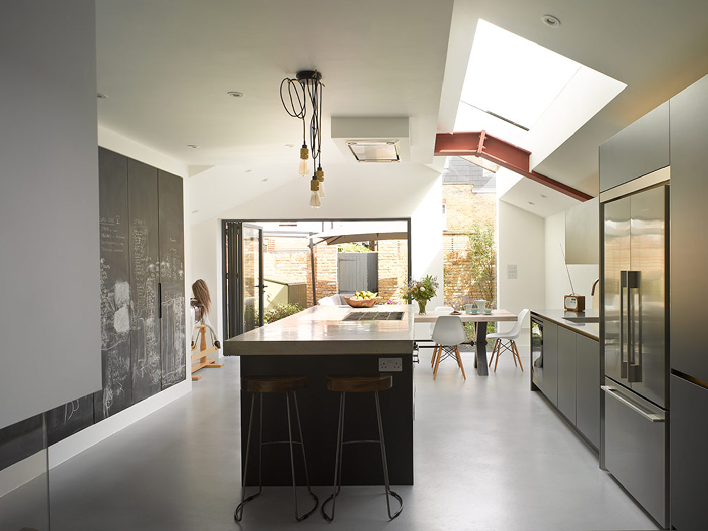 Ideas for a modern kitchen with bespoke island and concrete work surface